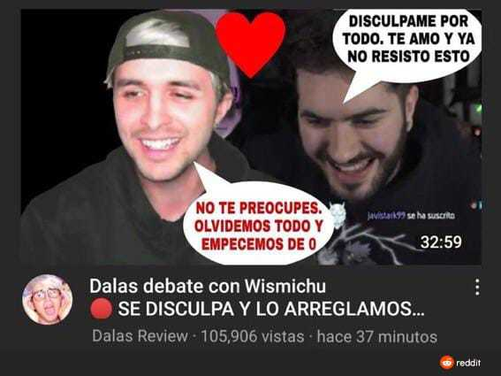 Dalas y Wismichu - meme