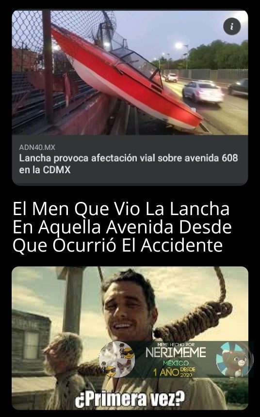 Meme: Una Lancha En ¿CdMx?