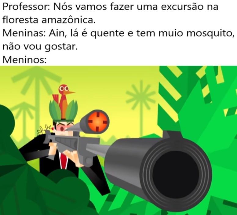 Sniper é tudo camper - meme