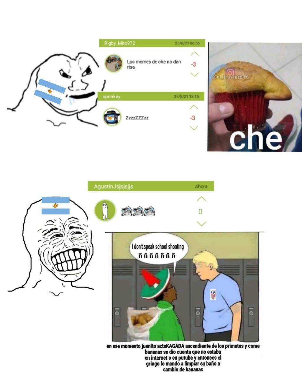 Solo argentinos ardidos nada más que decir - meme