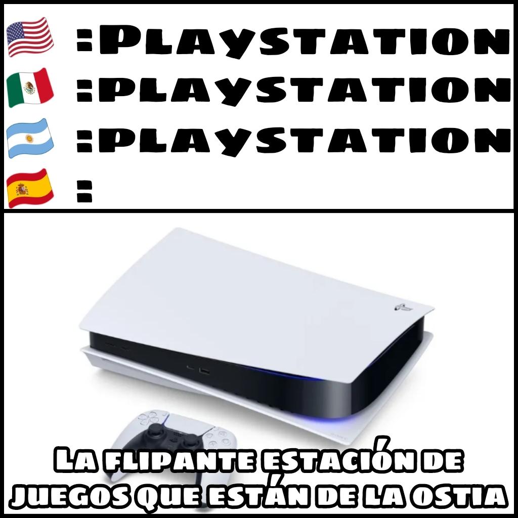Doblaje español Playstation - meme