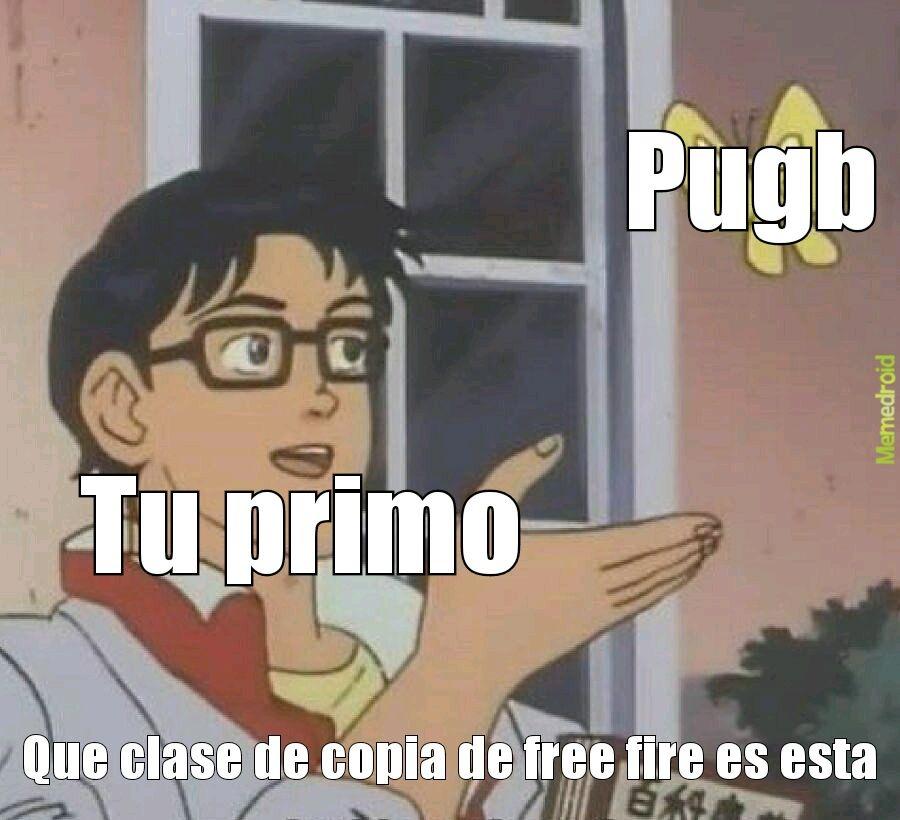 Free fire se copio de pubg - meme