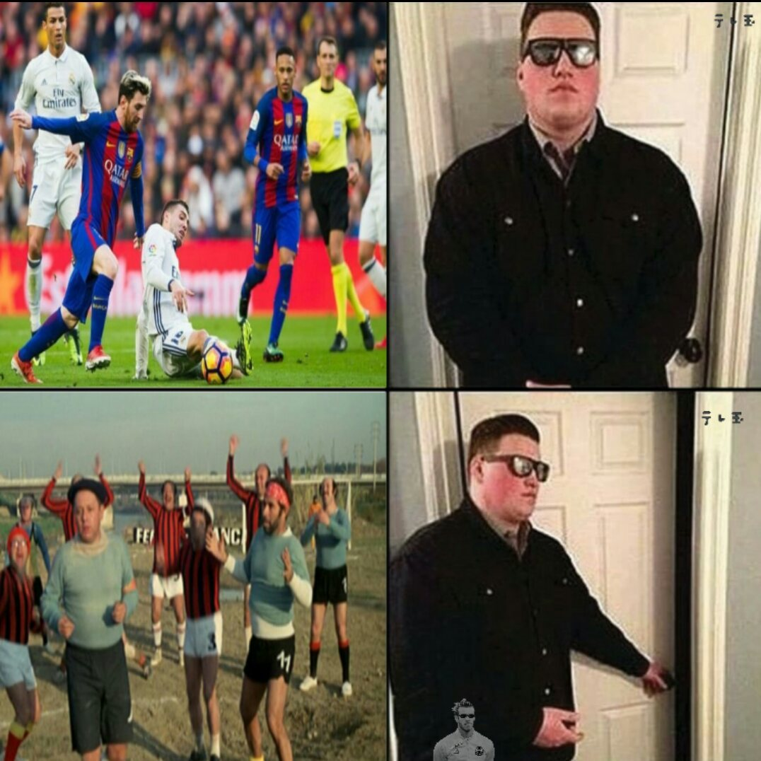 Real Madrid-Barcellona is for boys, Scapoli-Ammogliati is for men - meme