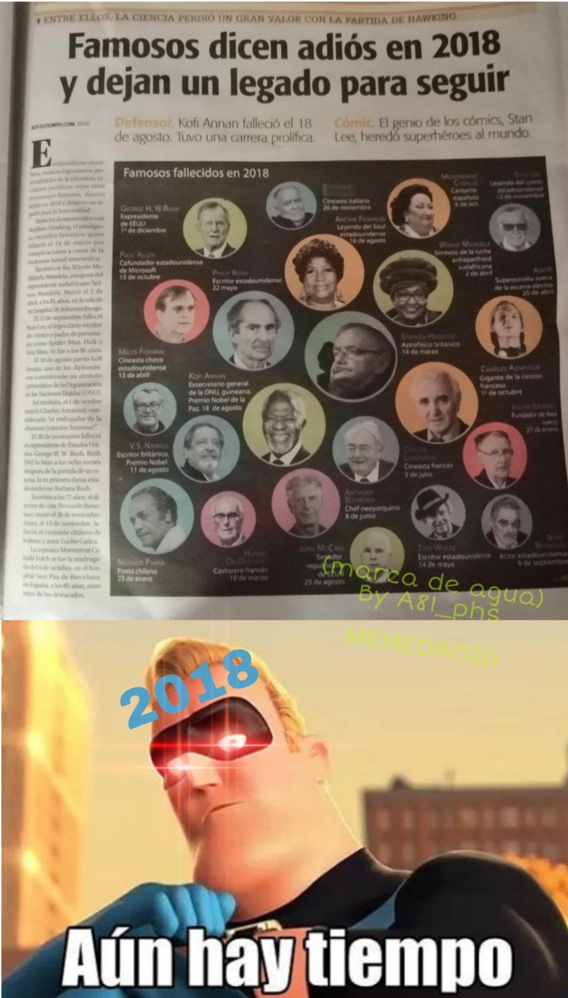 Stan Lee esta arriba en la derecha - meme