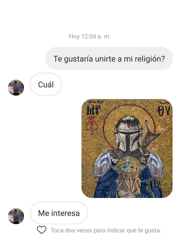 Nueva religión - meme