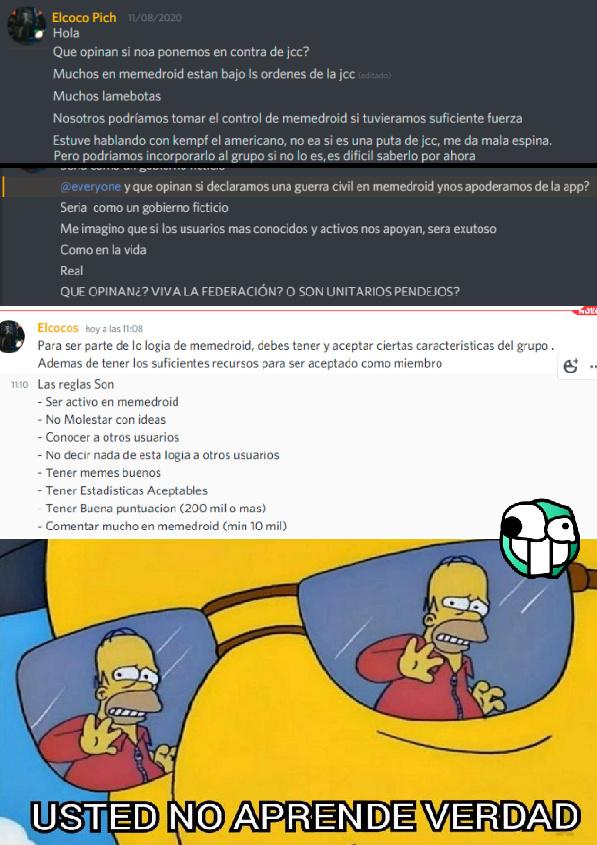 Ste Jotopich haciéndose el mas capito pensando que alguien en Homodroid va a hacer caso a sus ideas de mierda XDDDDDDDDDDD - meme