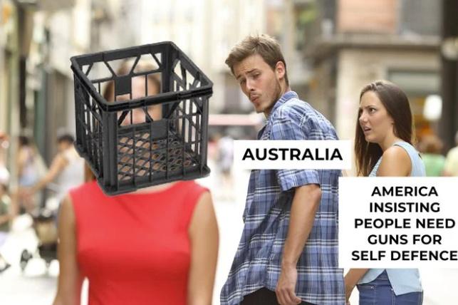 Got milk? Australian beats guy in knife battle with only a milk crate - meme
