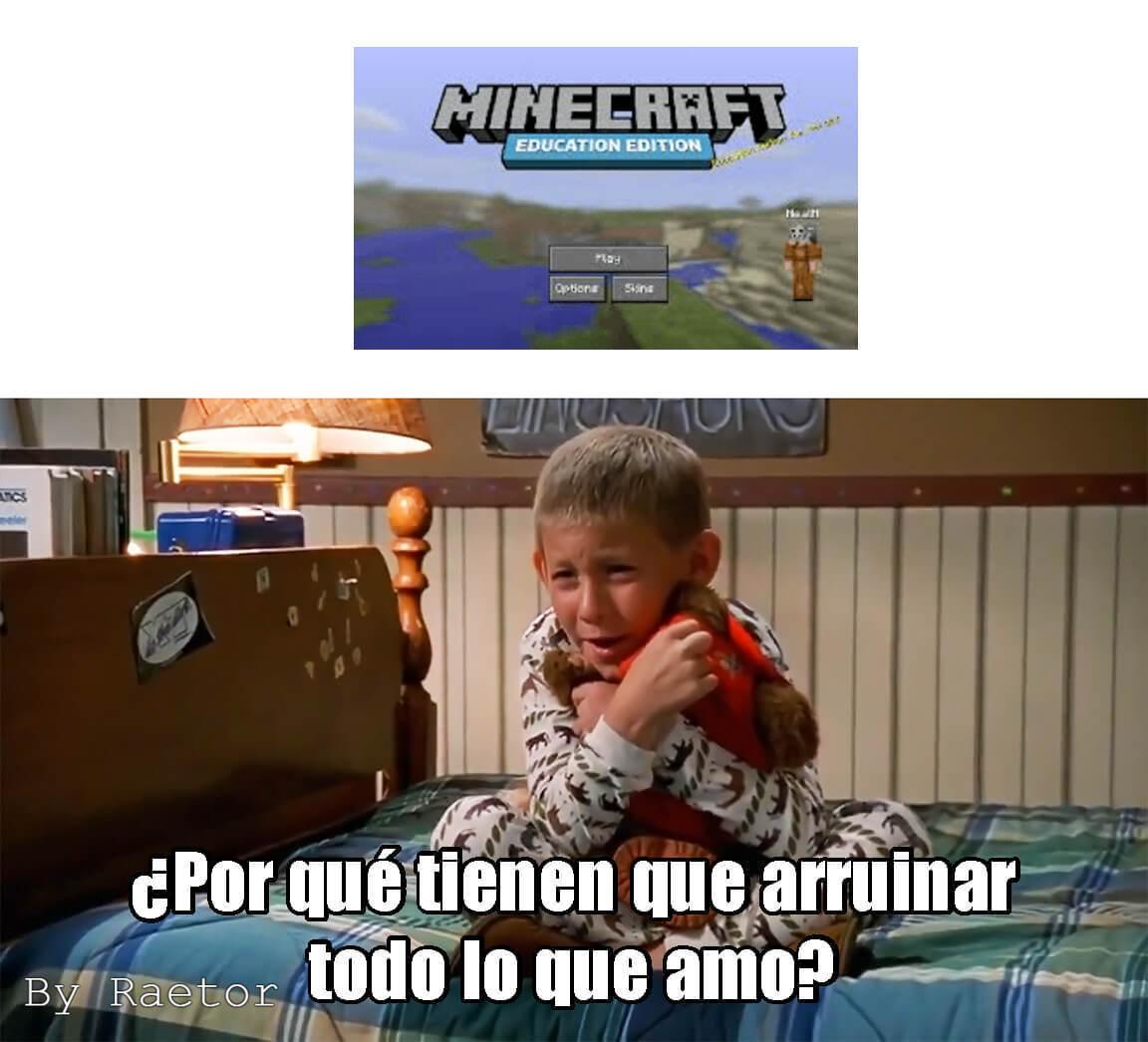 ¿Minecraft? - meme
