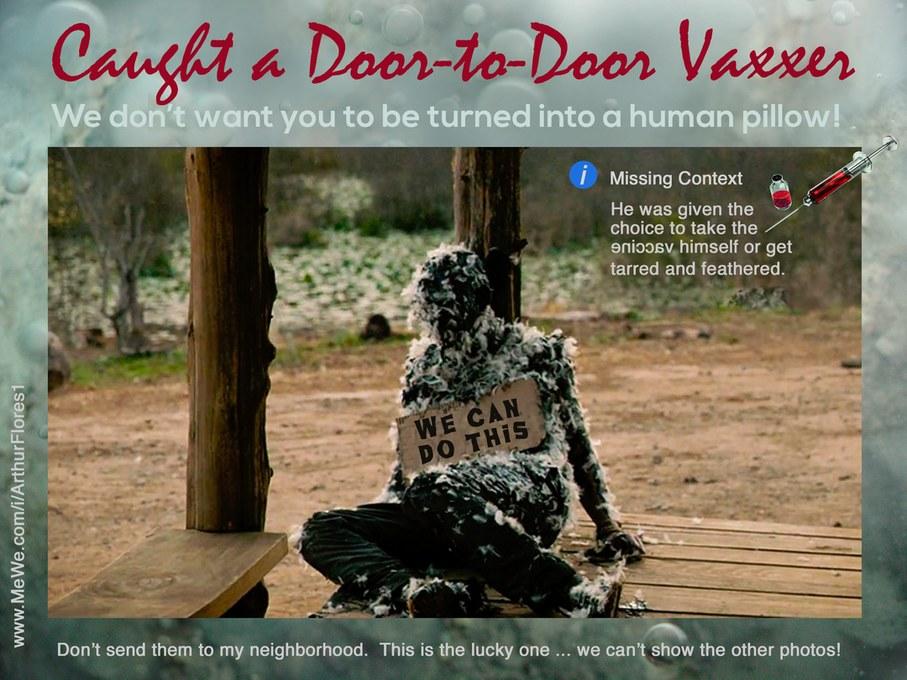 Door-to-Door Vaxxer - meme