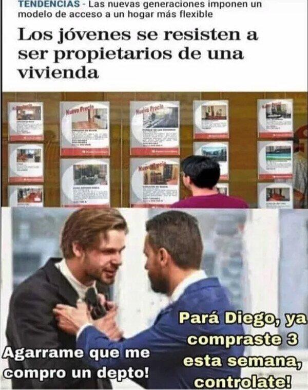 No Diego no compres mas - meme