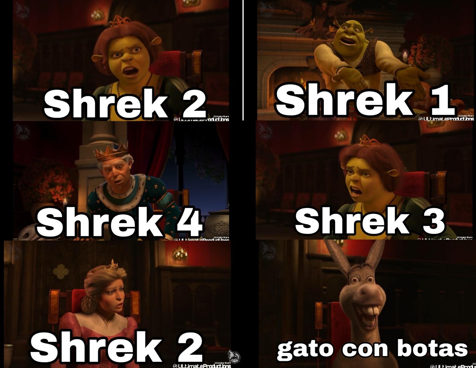 ¿Cual es la mejor película de Shrek? - meme