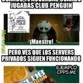 El meme se fue a jugar club penguin(Día del pisco en Chile)