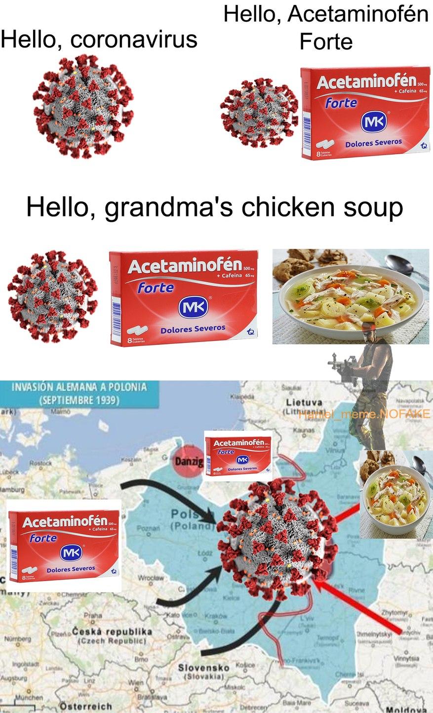 Ni modo, tocó invadir Polonia - meme