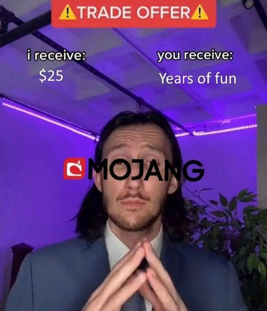 Lets all just appreciate Mojang - meme