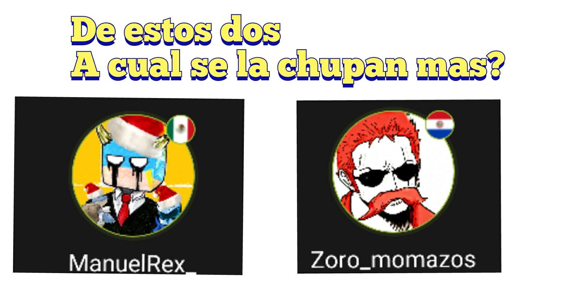 Zoro o Manuel? - meme