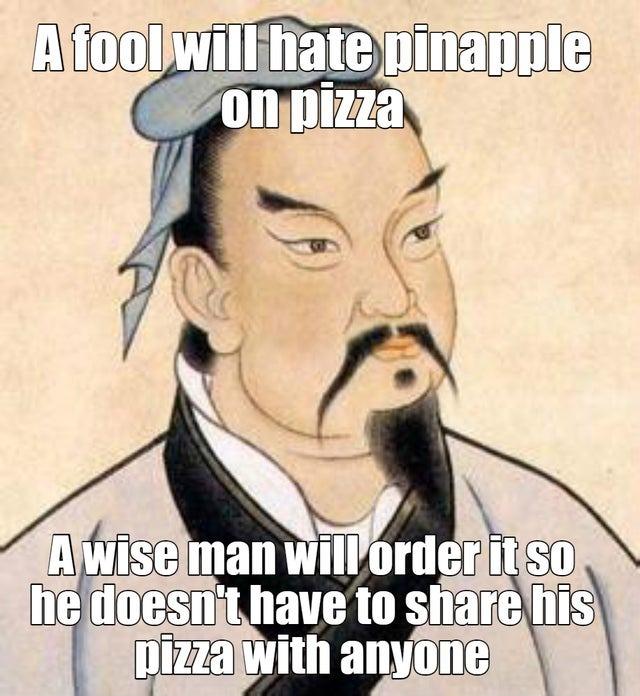 I share my pizza - meme