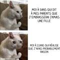 Triste vie pour le jeune chat