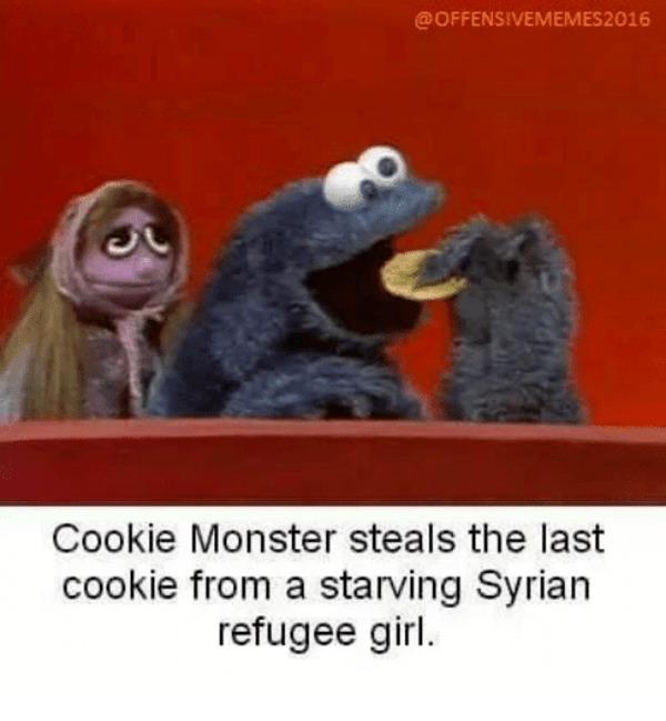 Cookie Monster does it again - meme