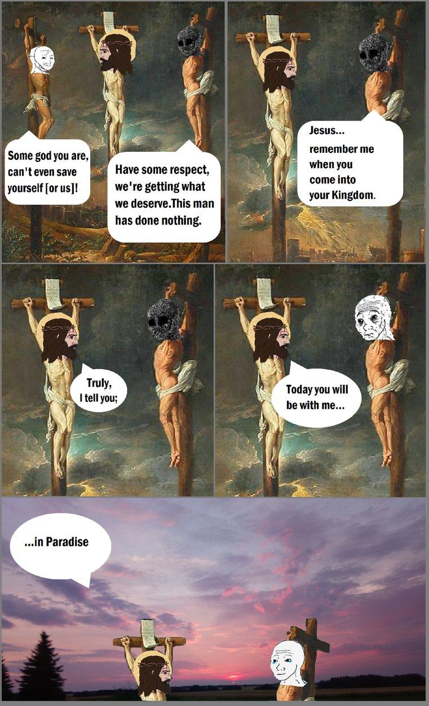 Luke 23:38-43 - meme
