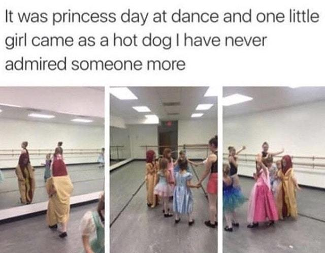 My favorite princess? Hot dog! - meme