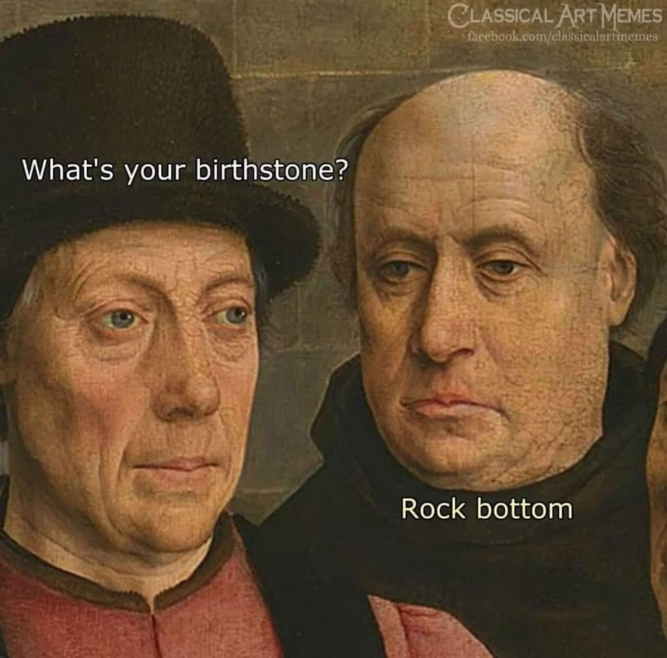 Rock bottom - meme