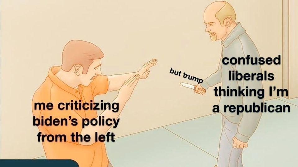 Trump's gone, can't use that excuse anymore - meme