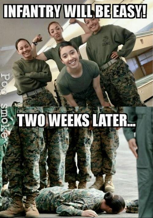 11B's are infantrymen, not infantrycunts - meme