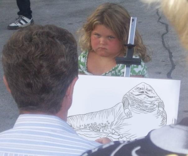 Jabba the uggly kid - meme
