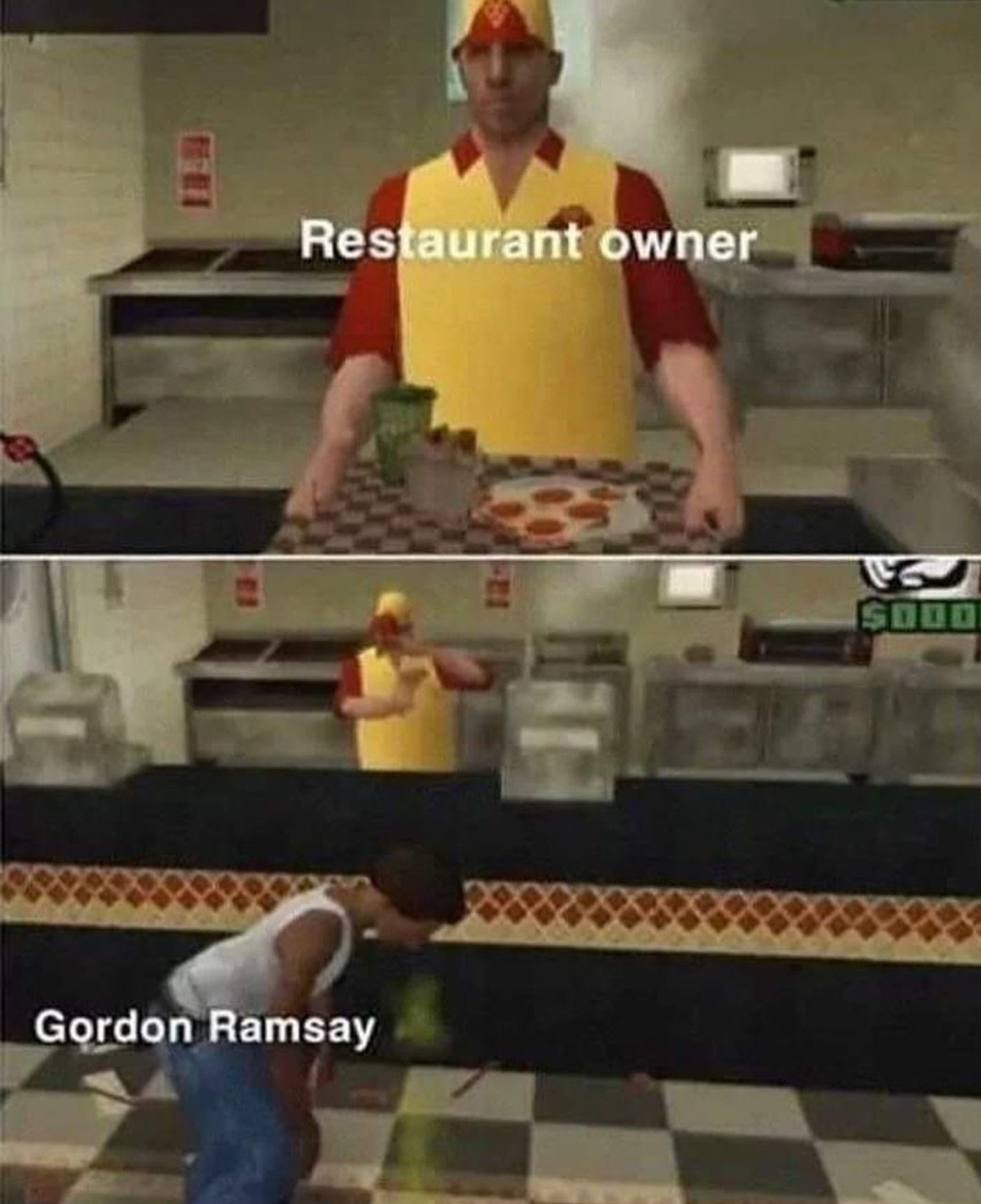 The pizza's so stale that turtles threw it into the sewer - meme
