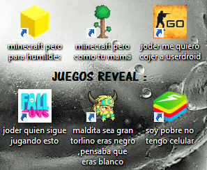 juegos reveal - meme