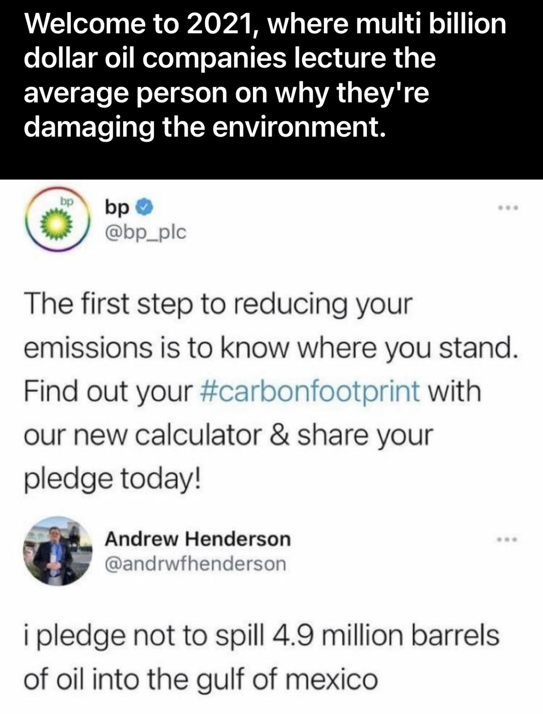 corporate bullshit should only be seen as a joke and a laughing stock - meme