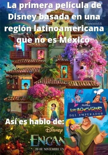 La película se basaba en el imperio inca, más específicamente en Perú. - meme