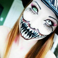 yo quiero estar asi en halloween!!