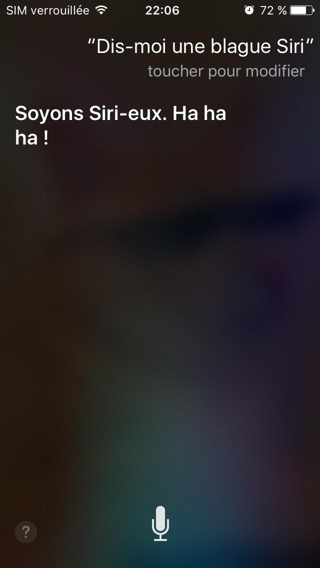 quand Siri a plus d'humour que moi - meme