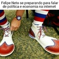 Felipe Neto não entende nada de política e economia