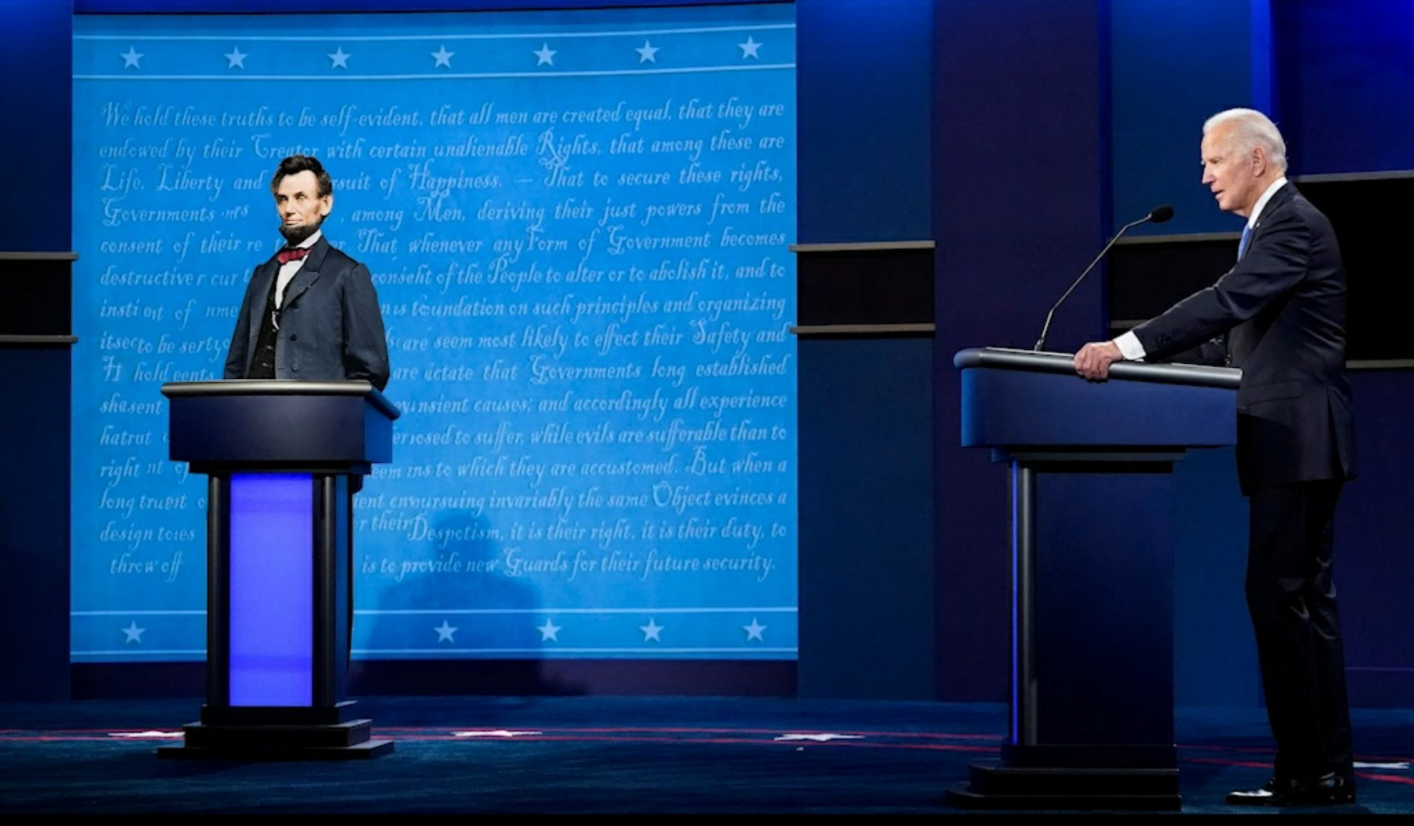 The second debate according to biden - meme