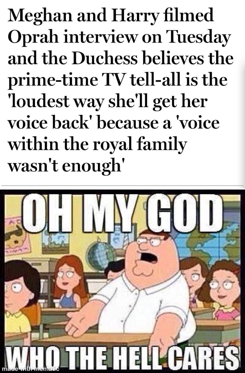 I royally don't gaf - meme