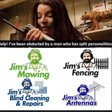 Now with Jim's Roof repair - meme