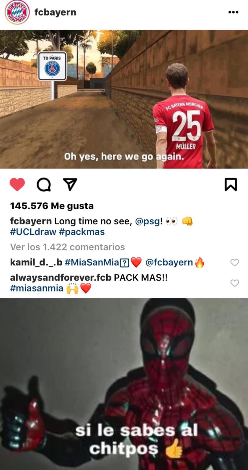 El Bayern le sabe al chitpos - meme