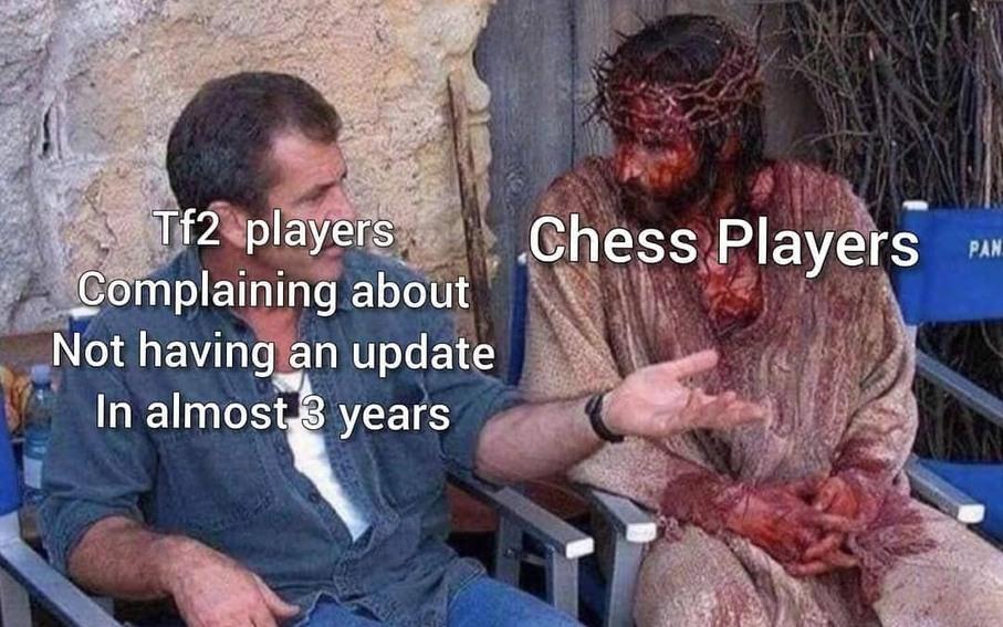 Les mecs de tf2 qui attendent un updapte vs les joueur d'echec - meme