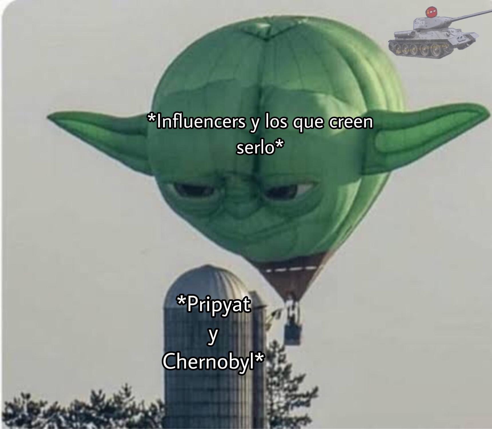 el titulo se fue a grabar el Reactor 4 por dentro - meme