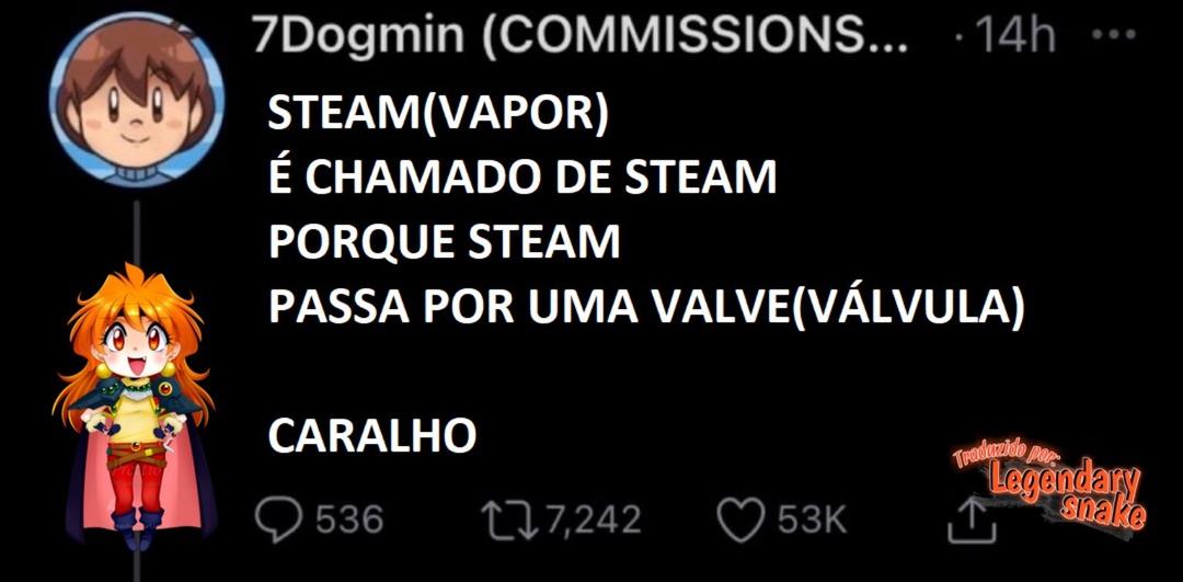 Steam e a Valve - meme