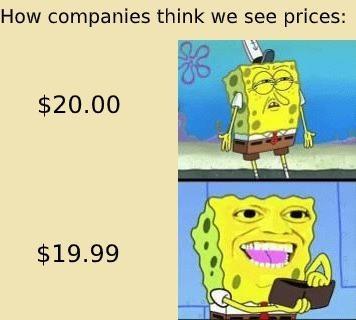 Comment les entreprises crois qu'on voit les prix - meme