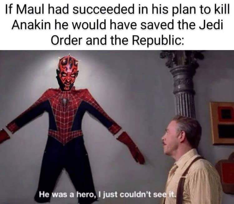 At Least he got some justice in the clone wars - meme