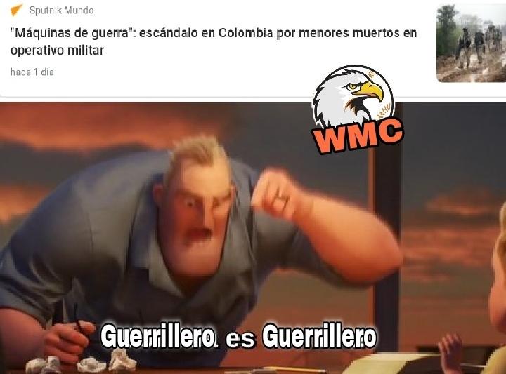 No es que me importe la juventud colombiana, pero esos Guerrilleros de cualquier edad se pasan como les da la puta gana a mi país , bien por Colombia que tienen menos Guerrilleros - meme