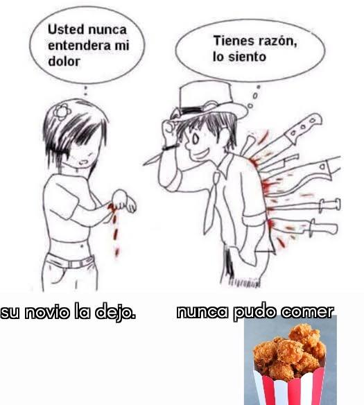 Pop corn chicken - meme