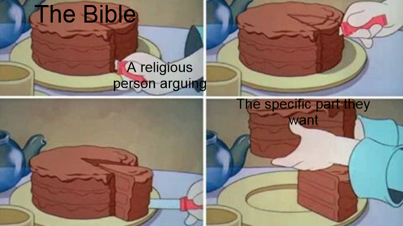 Low effort religion meme