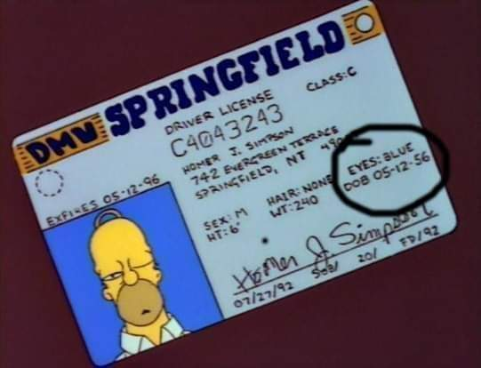 Feliz cumpleaños Homero - meme