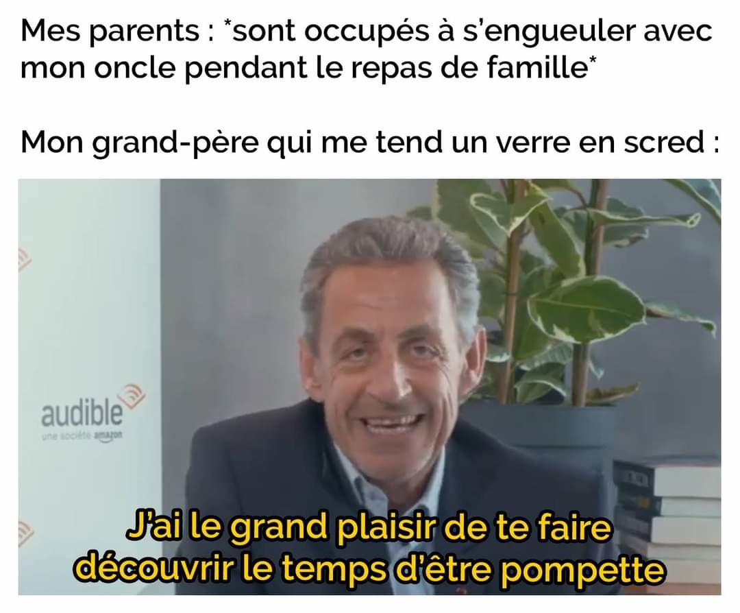 Bonjour je suis Nicolas Sarkozy - meme