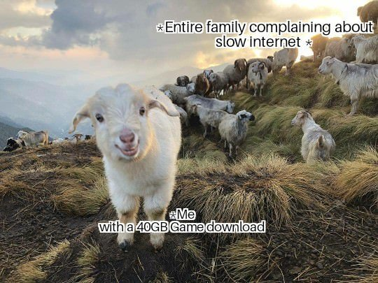 Entire family complaining about slow internet - meme